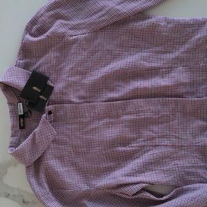 Maje button plad shirt NWT,size 1